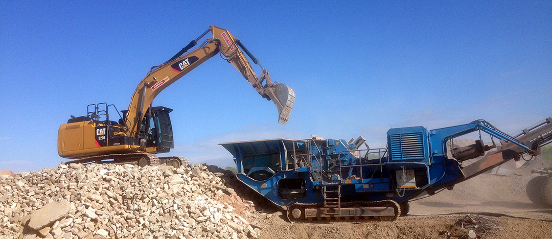 Recyclinghof Fehmarn, Abbrucharbeiten
